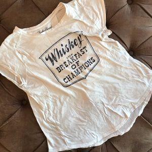 Lucky brand whiskey t shirt
